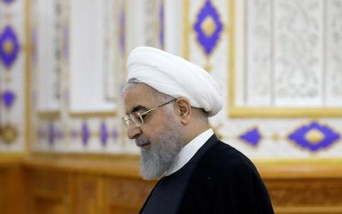 Hassan Rouhani, Iran's president, has demanded Europe do more to help Iran's economy - Credit: REUTERS/Mukhtar Kholdorbekov