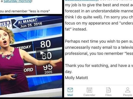 After Being Shamed for Dress and Underarm Fat, Meteorologist