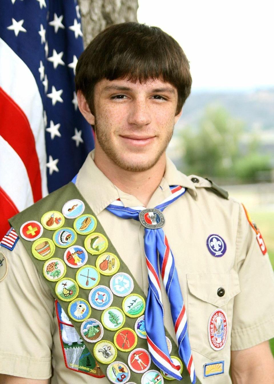 Trevor Reed is an Eagle Scout who served as a U.S. Marine.