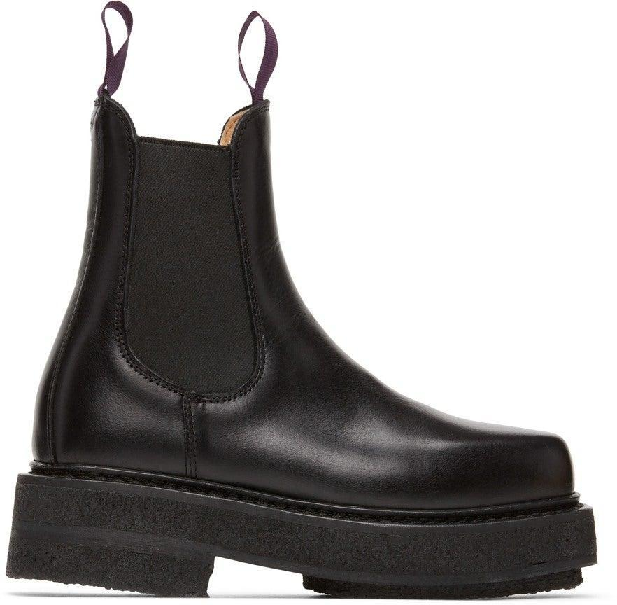 "<br><br><strong>EYTYS</strong> Black Ortega Chelsea Boots, $, available at <a href=""https://go.skimresources.com/?id=30283X879131&url=https%3A%2F%2Fwww.ssense.com%2Fen-us%2Fwomen%2Fproduct%2Feytys%2Fblack-ortega-chelsea-boots%2F6195131"" rel=""nofollow noopener"" target=""_blank"" data-ylk=""slk:SSENSE"" class=""link rapid-noclick-resp"">SSENSE</a>"