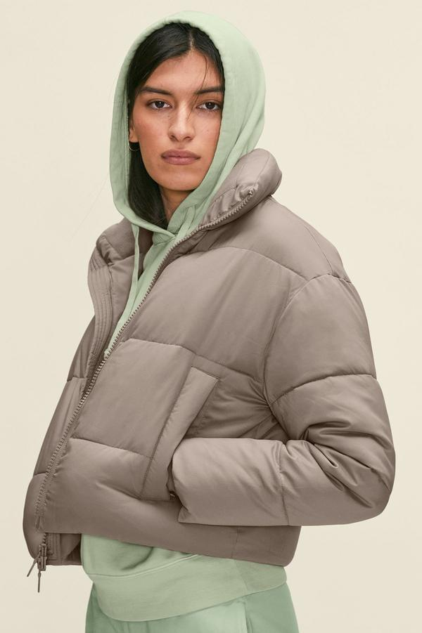 <p>For the days they're running errands, get them this cool <span>Girlfriend Collective Limestone Crop Puffer</span> ($198).</p>