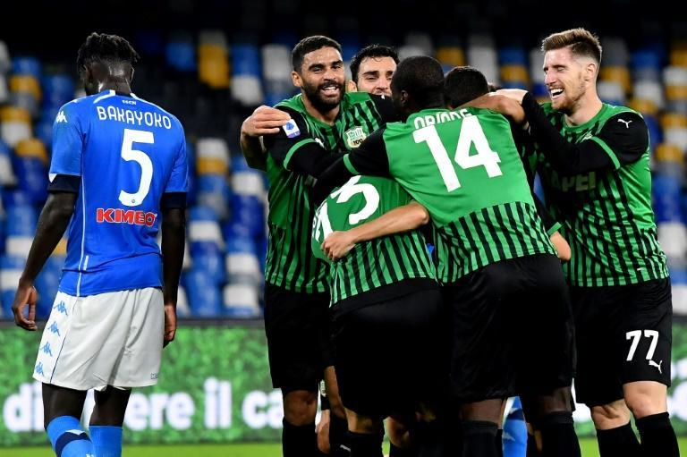 Sassuolo are second after claiming a first win at Napoli