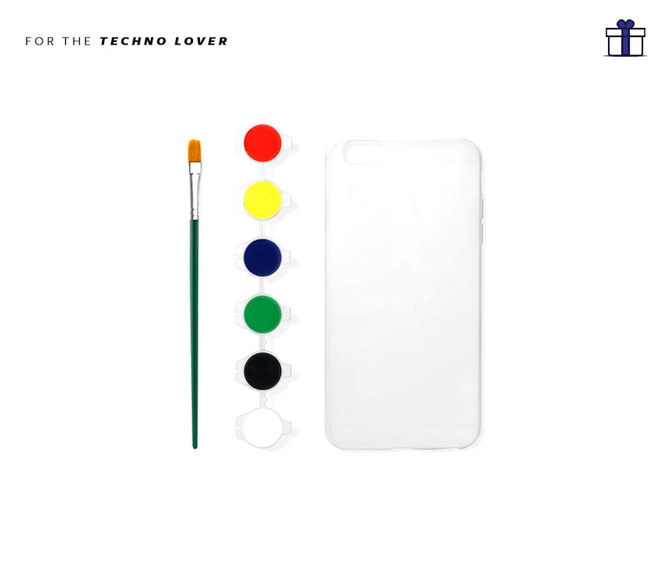 """<p>Bring the artist out of you with this paint your own iPhone case. Kikkerland Design Paint Your Own IPhone Case, $12, <a href=""""https://store.moma.org/museum/moma/ProductDisplay_Paint-Your-Own-iPhone-Case-I6_10451_10001_242410_-1_26674_46162_242421"""" rel=""""nofollow noopener"""" target=""""_blank"""" data-ylk=""""slk:moma.org"""" class=""""link rapid-noclick-resp"""">moma.org</a> </p>"""