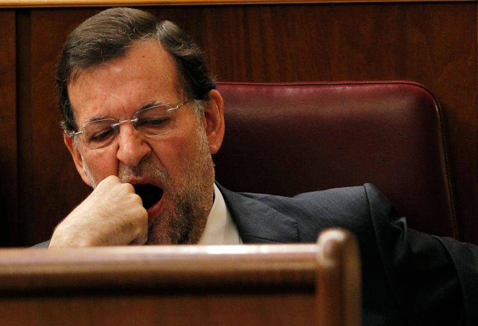 Mariano Rajoy, en su escaño.  (Photo: Juan Medina / Reuters)