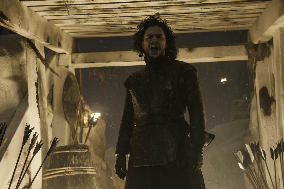 """Kit Harington as Jon Snow in Game of Thrones, """"The Watchers on the Wall."""" (HBO)"""