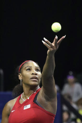 Williams remains perfect in Fed Cup; US leads Latvia 2-0