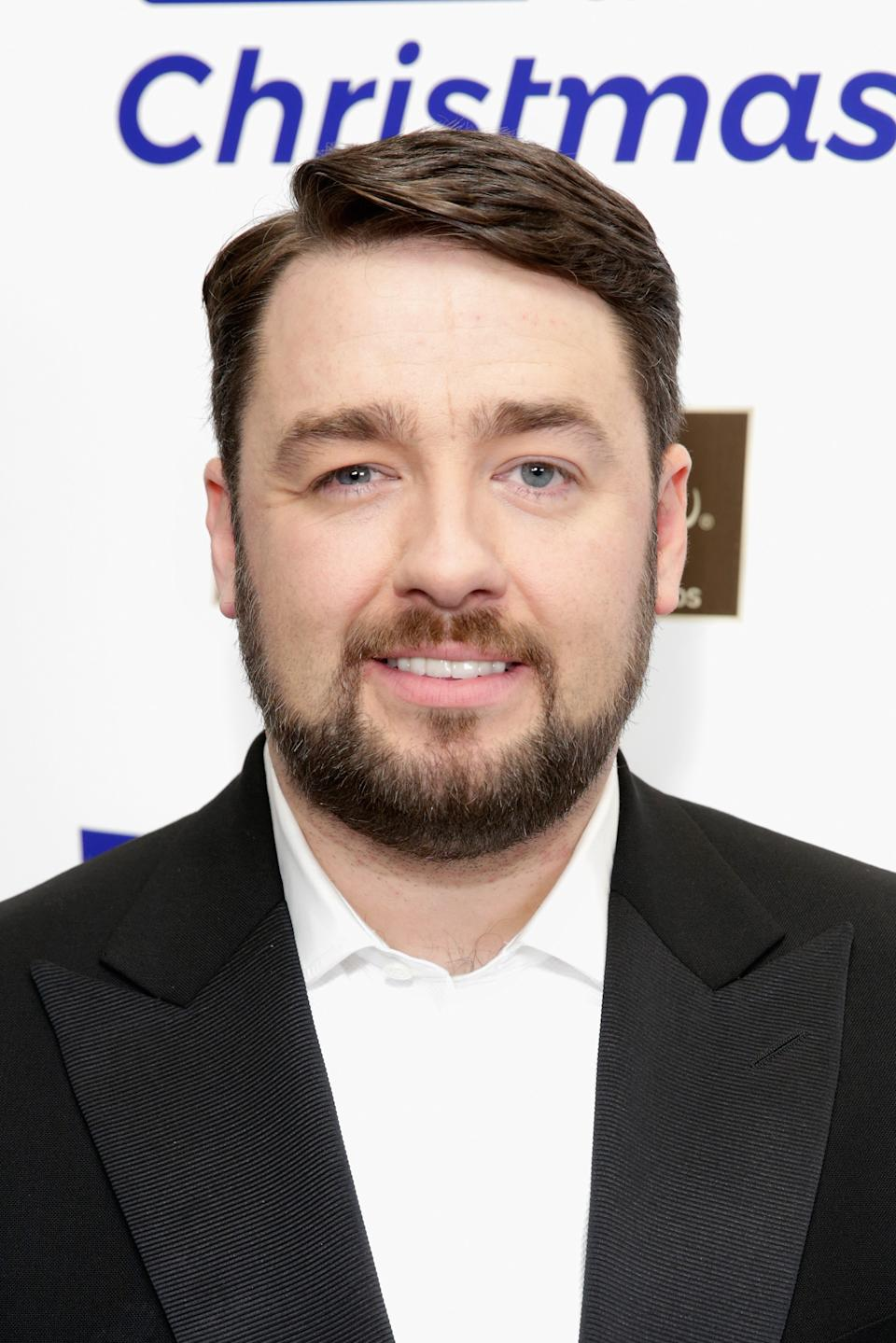 Jason Manford backstage at Magic FM's Magic of Christmas concert at London Palladium on November 26, 2017 in London, England.  (Photo by John Phillips/Getty Images)