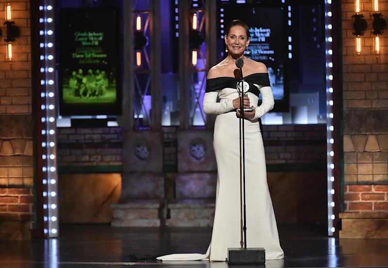 Laurie Metcalf accepts the Best Performance by an Actress in a Featured Role in a Play award. (Theo Wargo via Getty Images)