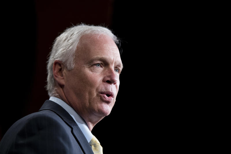 Sen. Ron Johnson (R-Wis.). (Bill Clark via Getty Images)