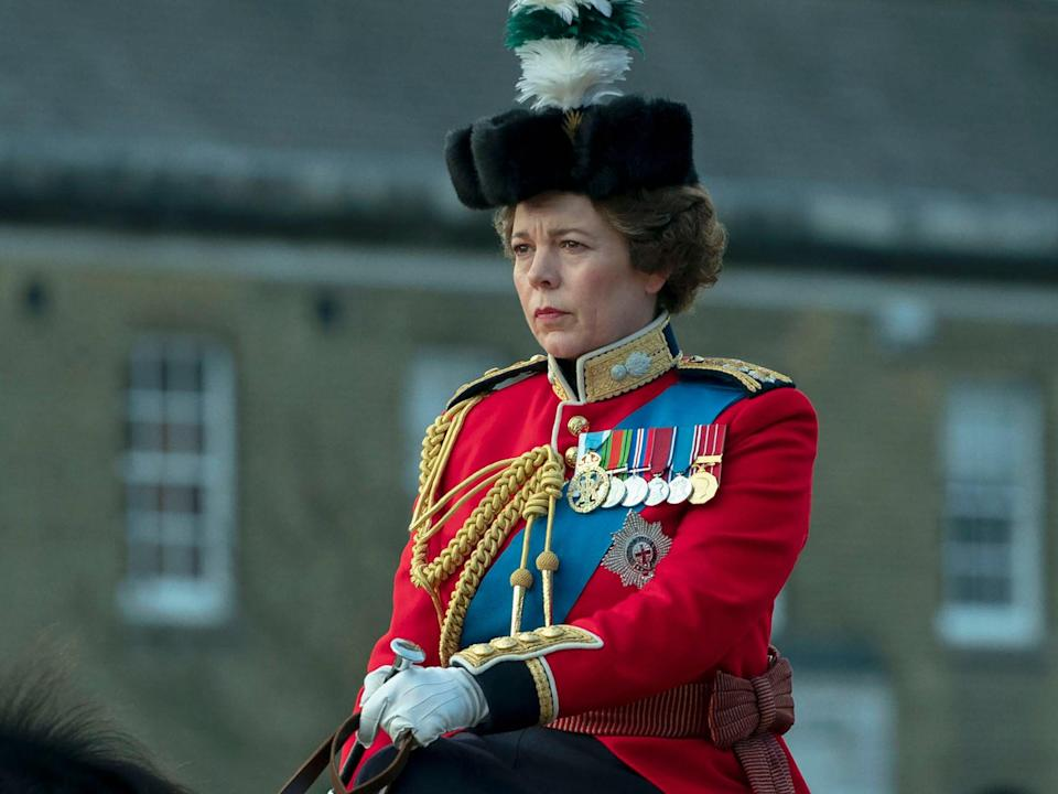 Olivia Colman as Queen Elizabeth II in 'The Crown', though she won't be around for season five and beyond (Des Willie/Netflix)
