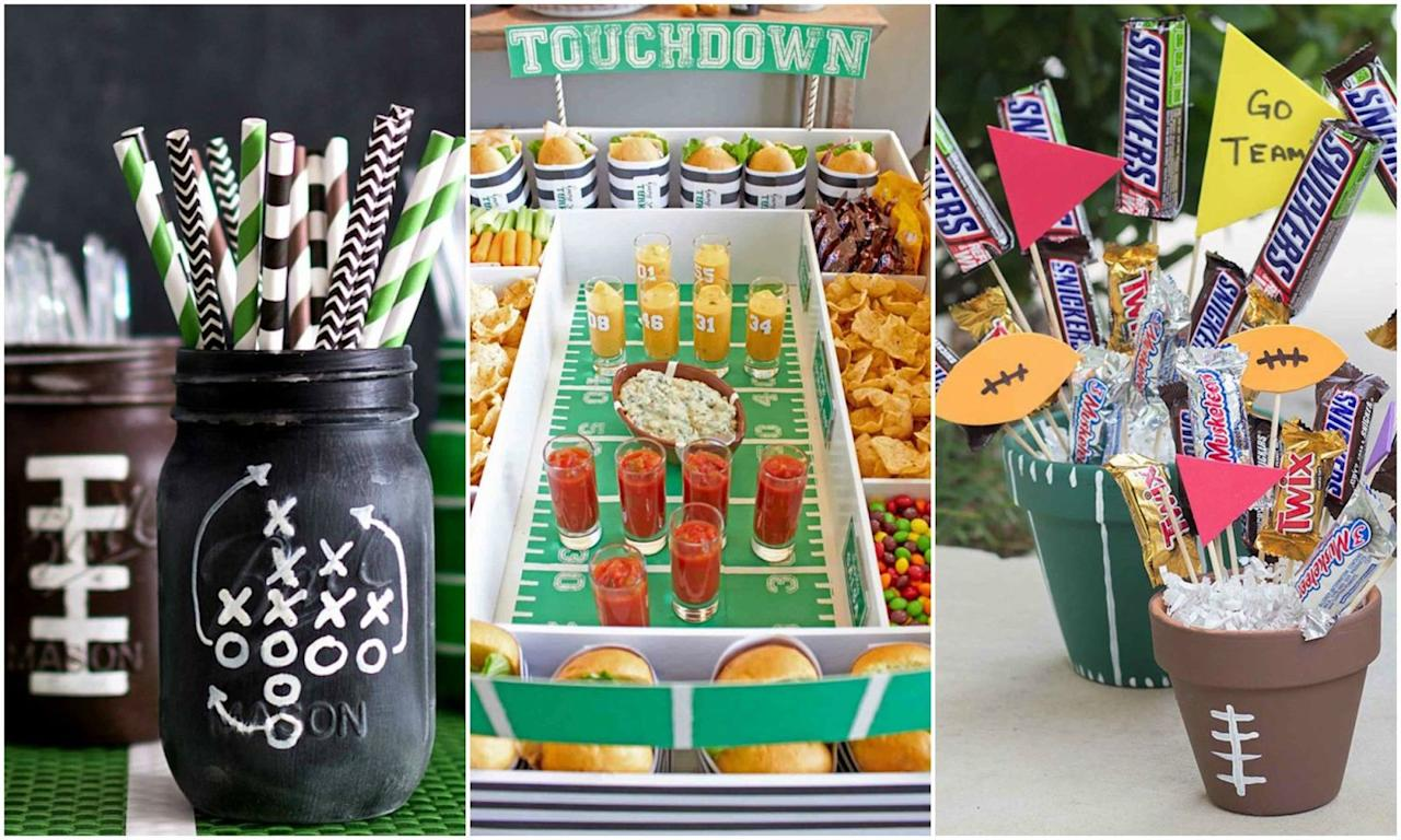 10 diy super bowl party decorations that every football for Super bowl party items