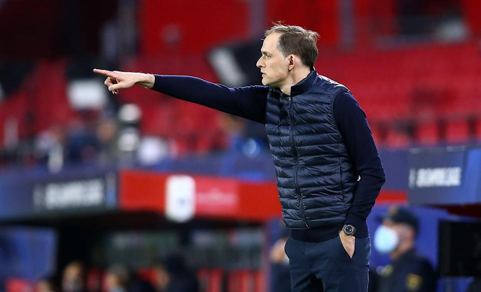 Thomas Tuchel in Chelsea's 1-0 loss to FC Porto on Tuesday night (Getty)