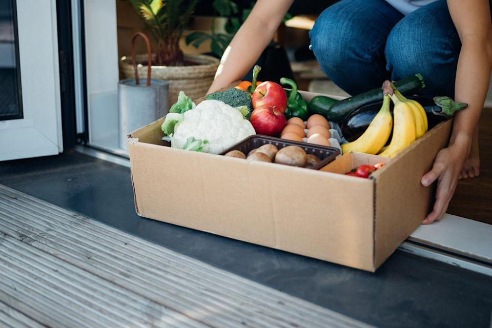 "<p>If you notice that you have a lot of food you know you're not going to use any time soon, then consider donating it to people who really do need it. Use the internet to <a href=""https://www.feedingamerica.org/find-your-local-foodbank"" rel=""nofollow noopener"" target=""_blank"" data-ylk=""slk:find local food banks"" class=""link rapid-noclick-resp"">find local food banks</a> to figure out where you can donate your unused goods.</p>"