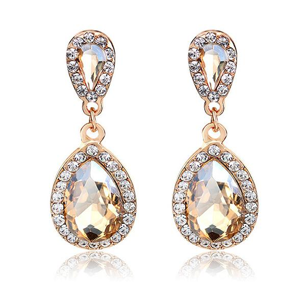 Get your glam on with these sparkly teardrop earrings! (Photo: Amazon)