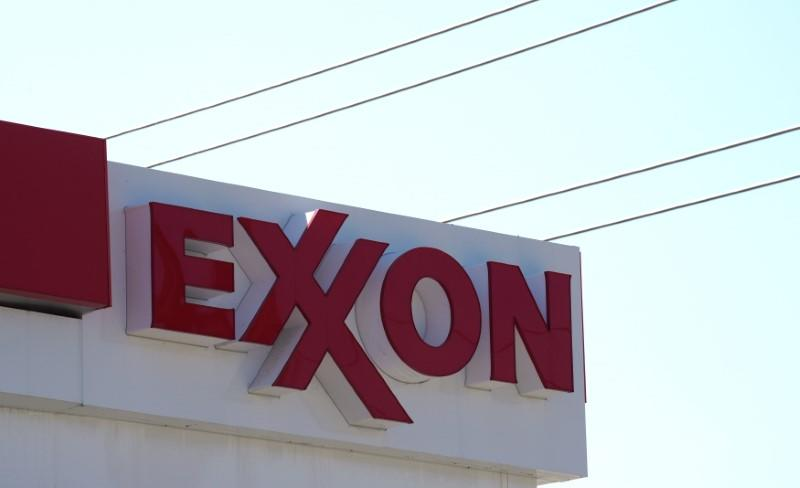 The Exxon Mobil gas station in Denver