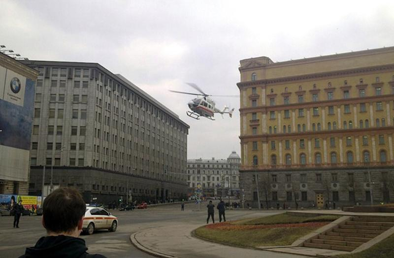 The assailant of a Russian FSB building, whose headquarters are seen in 2010, was shot dead, the agency said