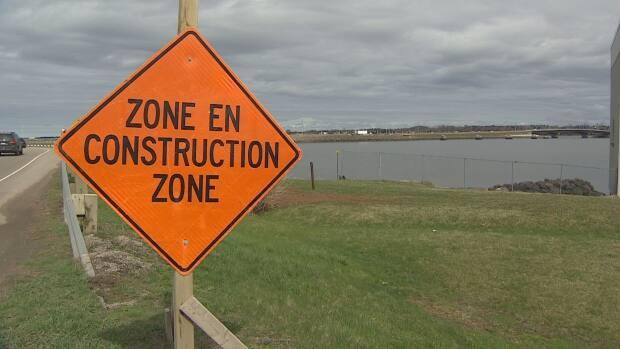 Construction has been underway on the bridge since last fall. (Kirk Pennell/CBC  - image credit)
