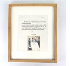 The lot includes a letter from the first person to buy Diana's bike. (Burstow & Hewett Auctioneers)