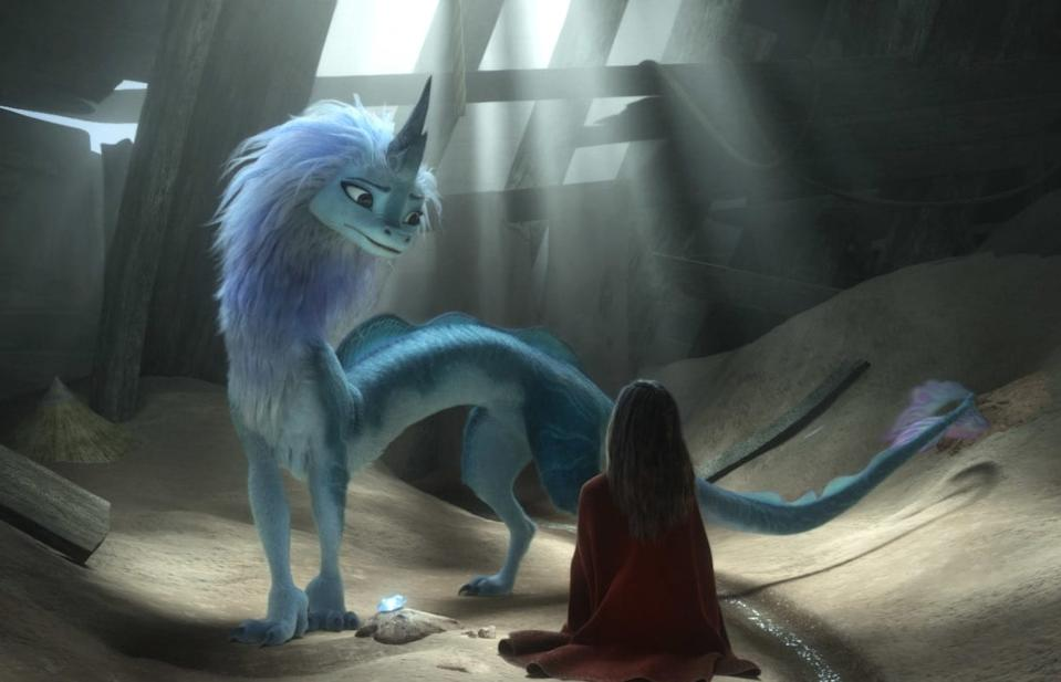 Sisu, the magical dragon of Raya And The Last Dragon, voiced by Awkwafina. (Image: Disney)