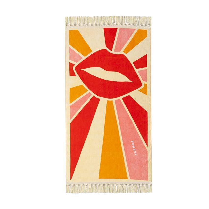 <p>How fun is this vintage <span>Funboy Disco Shag Lip Towel</span> ($59)?! All that's missing is a cool pair of shades and a bold red lip.</p>
