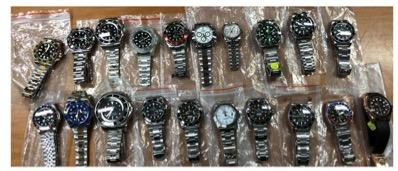 <p>A man has been arrested on suspicion of being involved in the online sale of counterfeit luxury watches and accessories, the police said in a press release on Saturday (29 September). </p>