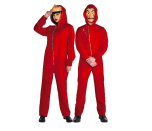 """<p><em>Money Heist</em>, in and of itself, isn't a horror TV show. Suspenseful? Absolutely. Scary? Not so much. But when you put these masks on during the spookiest night of the year, you're bound to have people inch further away out of fear. </p><p><a class=""""link rapid-noclick-resp"""" href=""""https://www.amazon.com/Cosplay-Costume-Hooded-Clothes-S-XXL/dp/B07Z4RWG8T?tag=syn-yahoo-20&ascsubtag=%5Bartid%7C10070.g.28669645%5Bsrc%7Cyahoo-us"""" rel=""""nofollow noopener"""" target=""""_blank"""" data-ylk=""""slk:Shop Jumpsuit"""">Shop Jumpsuit</a></p><p><a class=""""link rapid-noclick-resp"""" href=""""https://www.amazon.com/dp/B07YDYXPD5/?tag=syn-yahoo-20&ascsubtag=%5Bartid%7C10070.g.28669645%5Bsrc%7Cyahoo-us"""" rel=""""nofollow noopener"""" target=""""_blank"""" data-ylk=""""slk:Shop Masks"""">Shop Masks</a></p>"""