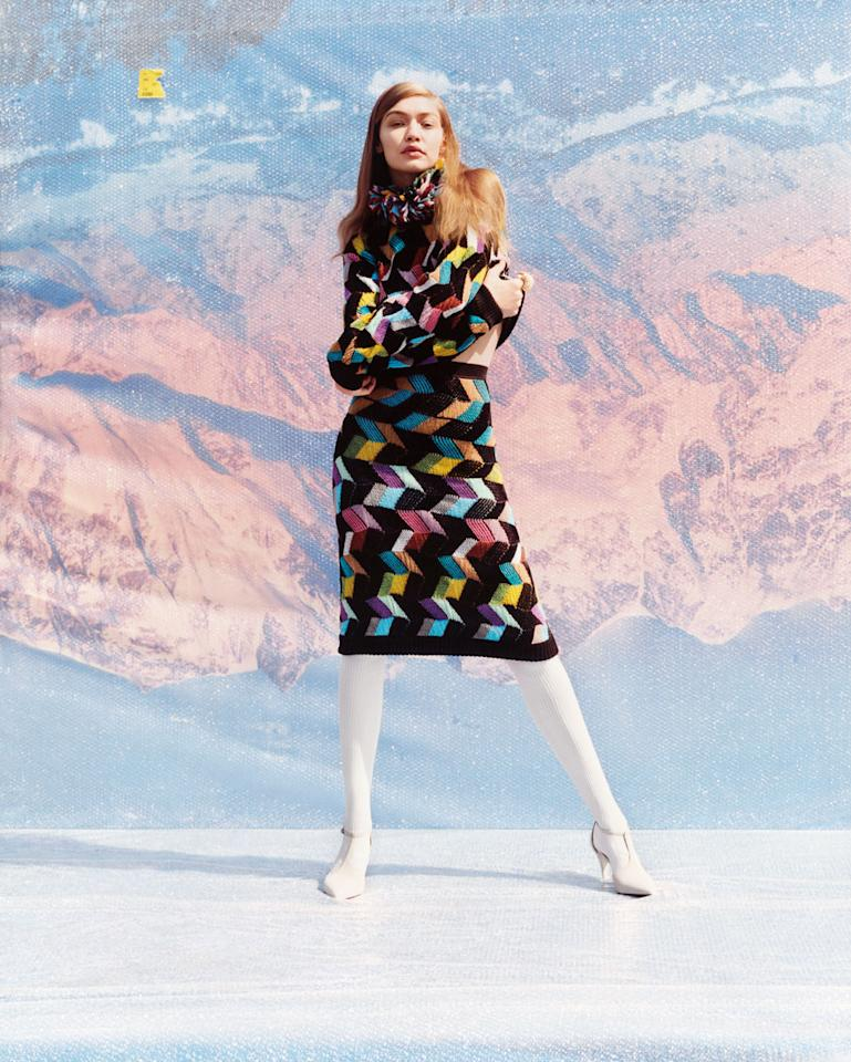 <p><strong>Photographer: </strong>Harley Weir<br /><strong> Starring: </strong>Gigi Hadid<br /><strong> Inspiration: </strong>A theme of female empowerment, identity, and fearlessness set in Angela Missoni's home in Brunello, Italy.<br />(Photo: Courtesy of Harley Weir/Missoni) </p>