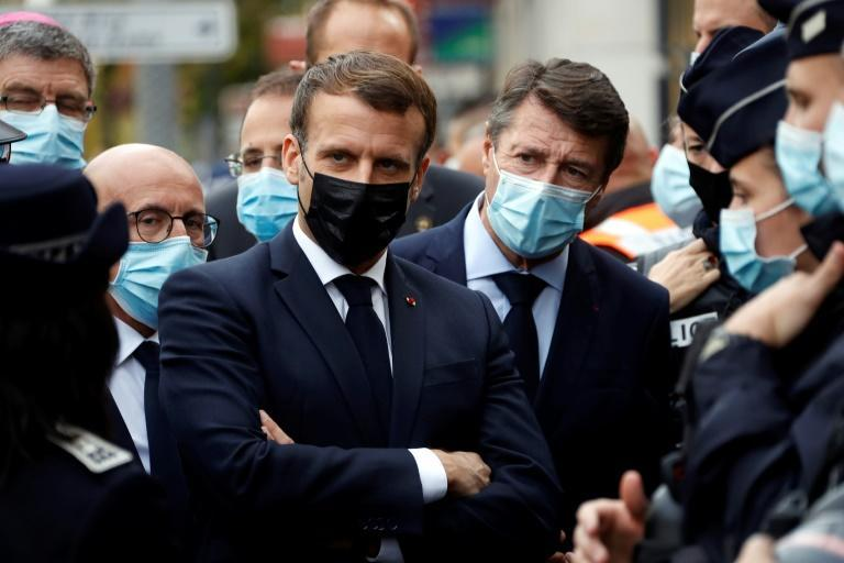 """""""Quite clearly, it is France that is being attacked,"""" French President Emmanuel Macron said at the scene"""
