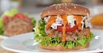 "<p>Ground turkey is even cheaper than ground chicken, and this buffalo-blue-cheese topping ensures it's full of flavor, too. </p> <p><strong>Get the recipe:</strong> <a href=""https://www.popsugar.com/food/Buffalo-Turkey-Burger-Food-Video-41715428"" class=""link rapid-noclick-resp"" rel=""nofollow noopener"" target=""_blank"" data-ylk=""slk:buffalo turkey burgers"">buffalo turkey burgers</a></p>"