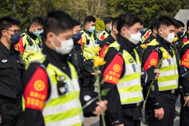 Chinese police arrested three people on suspicion of publishing censored articles, the brother of one has told Reuters news agency (Yifan Ding/Getty Images)