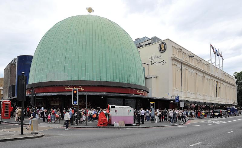 A view of Madame Tussauds in Marylebone Rd, central, London.