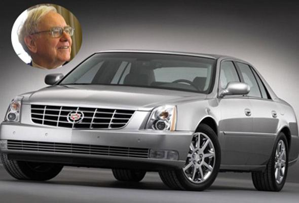 Warren Buffett is one of the world's richest men, but his frugality is as well-known as his bank account. The investor drives a Cadillac DTS, which he purchased to support then-flailing American company General Motors. The car retails for around $45,000. information via gminsidenews.com and truecar.com.