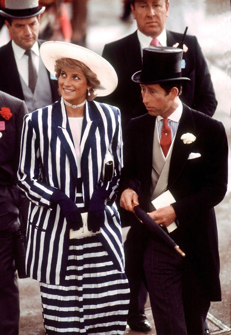 <p>In a striped suit by Roland Klein and hat by Philip Somerville at the Royal Ascot.</p>