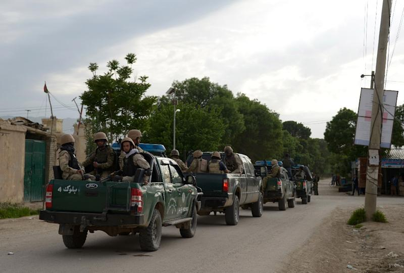 """A US military spokesman said """"more than 50"""" Afghan soldiers were killed in a gun and suicide attack, while Afghan officials said eight were killed and 11 wounded (AFP Photo/FARSHAD USYAN)"""