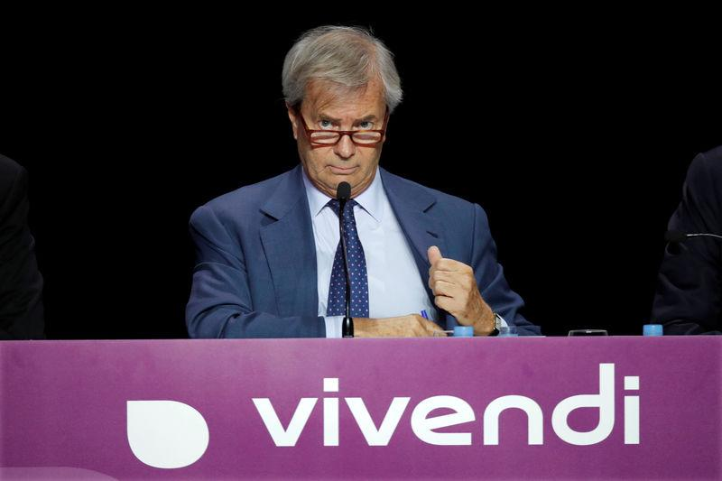 FILE PHOTO: Vincent Bollore, Chairman of the Supervisory Board of media group Vivendi, attends the company's shareholders meeting in Paris