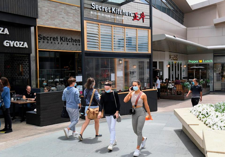 A photo shows the exterior of Secret Kitchen restaurant in Melbourne where five Indian cricket players visited, putting them in potential breach of strict Covid-19 health measures.
