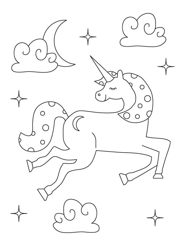 9 Printable Unicorn Coloring Pages