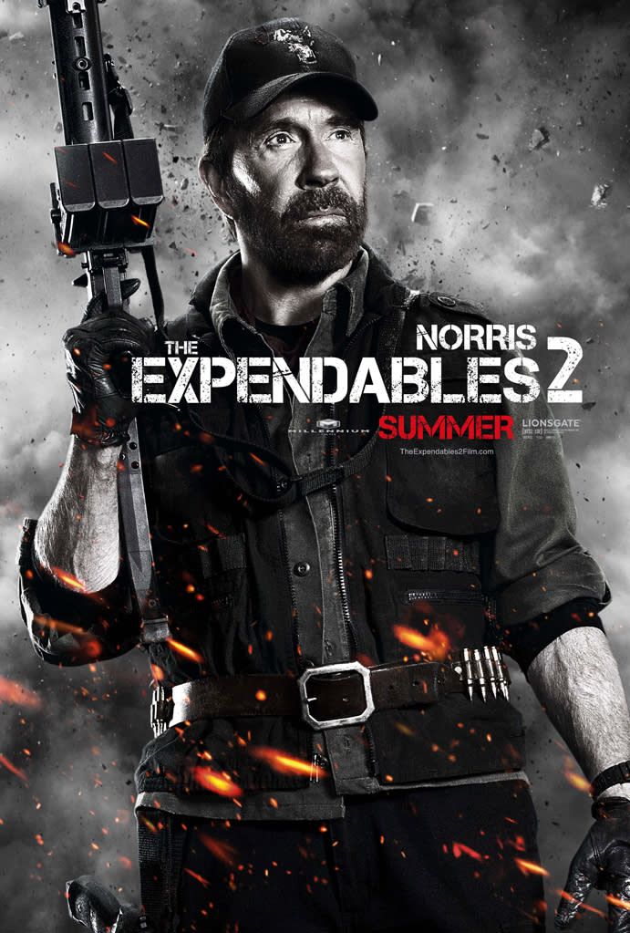 """Chuck Norris in Lionsgate's """"The Expendables 2"""" - 2012"""