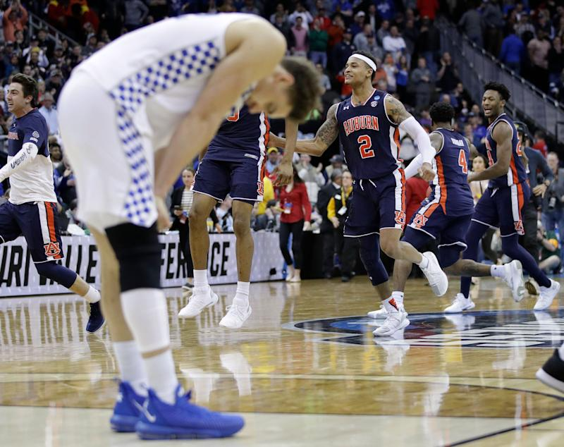 Kentucky's season came to a painful end short of the Final Four. (AP)