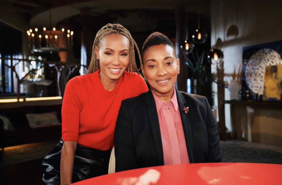 Jada Pinkett Smith sat down with Robyn Crawford for the latest Red Table Talk. (Photo: Michael Becker)