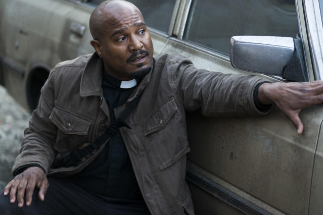 Seth Gilliam as Father Gabriel in <em>The Walking Dead</em> (Photo Credit: Gene Page/AMC)