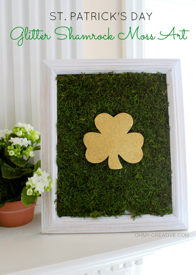 """<p>Sometimes all that glitters really is gold—or at least gold glitter—as this stylish DIY art piece made with imitation moss proves.</p><p><strong>Get the tutorial at <a href=""""https://www.ohmy-creative.com/holiday-crafts/st-patricks-day/st-patricks-day-glitter-shamrock-moss-art/"""" rel=""""nofollow noopener"""" target=""""_blank"""" data-ylk=""""slk:OH MY! Creative"""" class=""""link rapid-noclick-resp"""">OH MY! Creative</a>.</strong></p><p><a class=""""link rapid-noclick-resp"""" href=""""https://go.redirectingat.com?id=74968X1596630&url=https%3A%2F%2Fwww.walmart.com%2Fsearch%2F%3Fquery%3Dmod%2Bpodge&sref=https%3A%2F%2Fwww.thepioneerwoman.com%2Fhome-lifestyle%2Fcrafts-diy%2Fg34931626%2Fst-patricks-day-decorations%2F"""" rel=""""nofollow noopener"""" target=""""_blank"""" data-ylk=""""slk:SHOP MOD PODGE"""">SHOP MOD PODGE</a><br></p>"""