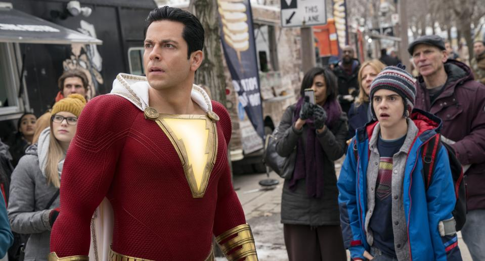 'Shazam!' has landed at the top of the UK box office in the wake of a £4m opening weekend
