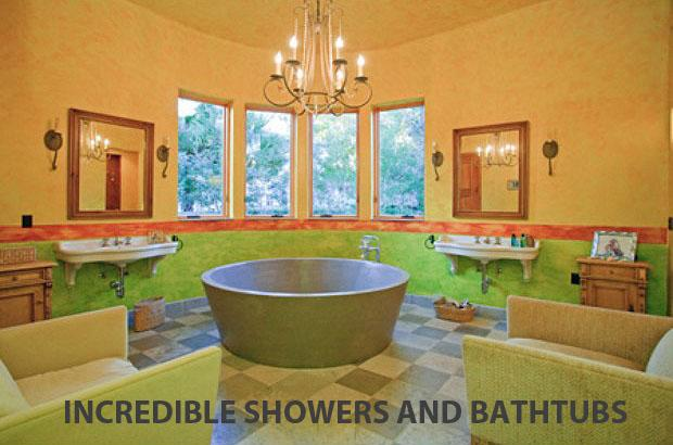 Just because they're essential doesn't mean bathrooms can't be extravagant. Tubs carved from marble, showers that mimic waterfalls, and breezy outdoor spas are just a few of the luxurious options available. (Photo: Kelly Price & Company) More from Forbes  Homes With Incredible Backyards  Amazing Glass Homes Jaw-Dropping Private-Island Homes