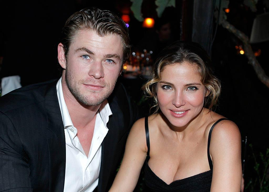 """""""Thor"""" star Chris Hemsworth and his new bride, Elsa Pataky, also attended the soiree. Do you think the pair had any awkward encounters with Elsa's ex-boyfriend Adrien Brody at the event? Jeff Vespa/<a href=""""http://www.wireimage.com"""" target=""""new"""">WireImage.com</a> - February 23, 2011"""