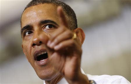 U.S. President Obama speaks about the Affordable Care Act in Largo