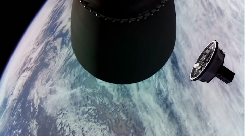 The Kick Stage in orbit