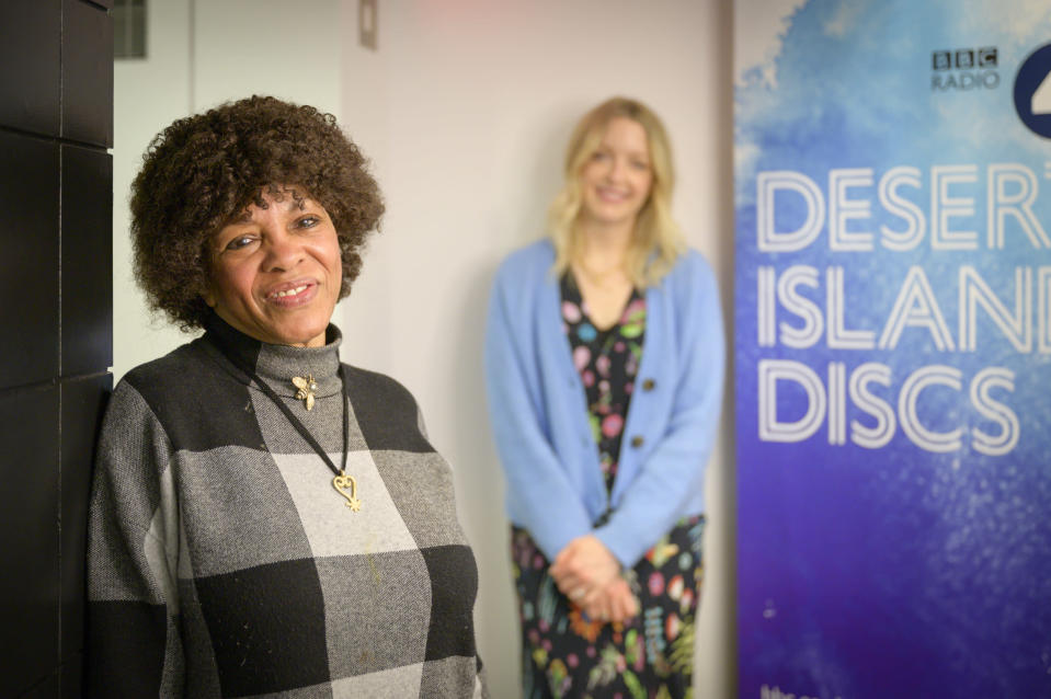 Host Lauren Laverne and Margaret Busby (BBC/PA)