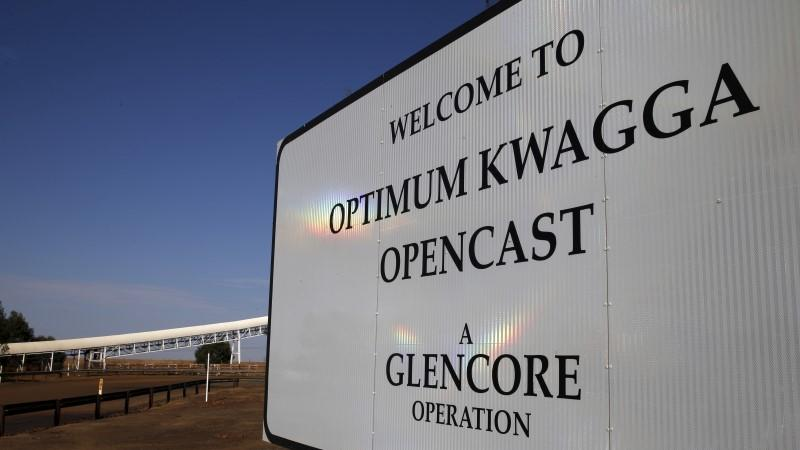 An entrance to the Optimum Kwagga coal mine owned by Glencore is seen near Hendrina in Mpumalanga province