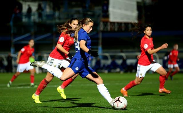 Chelsea Women's Fran Kirby scored as her side moved to the top of the Women's Super League following a 2-1 victory over Manchester United